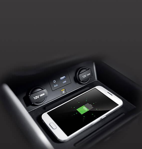 Hyundai IONIQ wireless phone charging