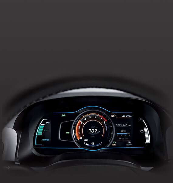 Hyundai IONIQ speed information dashboard